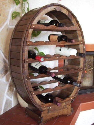 Weinregal für 24 Flaschen aus Weinfass