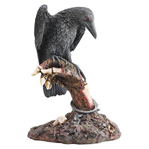 Zombi Figur mit Rabe, Zombie-Statue