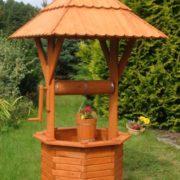 Holzbrunnen Gartenbrunnen Zierbrunnen imprägniert