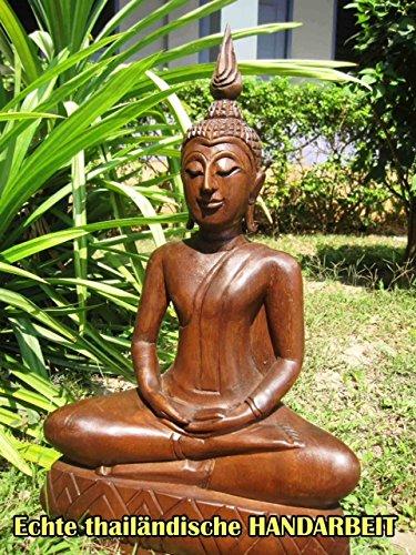 CHIANG MAI BUDDHA - großer Holz Buddha - Thailand - 75 cm