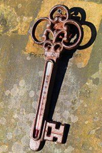 Garten Thermometer - Gusseisen Schlüssel Vintage Shabby Chic