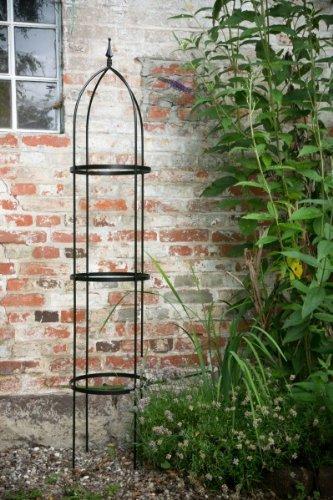 Rankgerüst Obelisk Schwarz, 10mm Volleisen, 2 m hoch