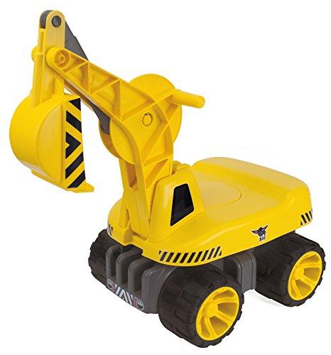 Kinderbagger mit Schaufelfunktion gelb