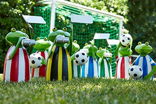 Zaunhocker Frosch Metall - Fußball Figuren Set