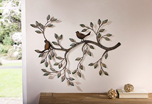 Wanddeko Ast mit Vogelpaar - Wandschmuck