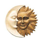 Wandskulptur Mond und Sonne – Blattmaske
