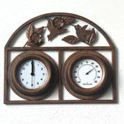 Garten Uhr aus Gusseisen Thermometer Wanduhr